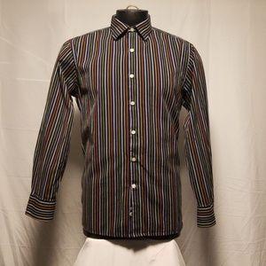 Gap Men Dress Shirt Strips Medium